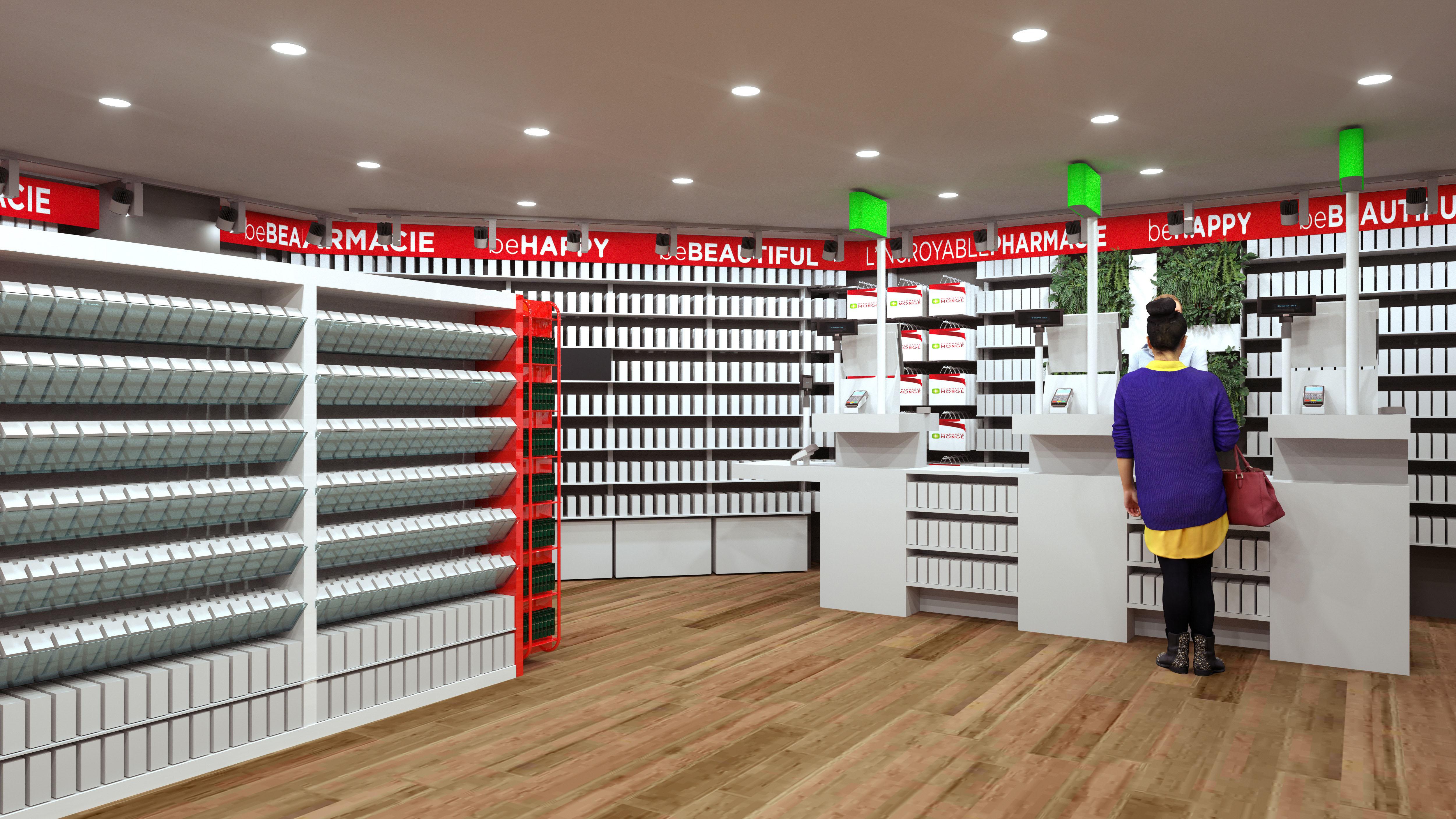 retail concept pharmacie Monge