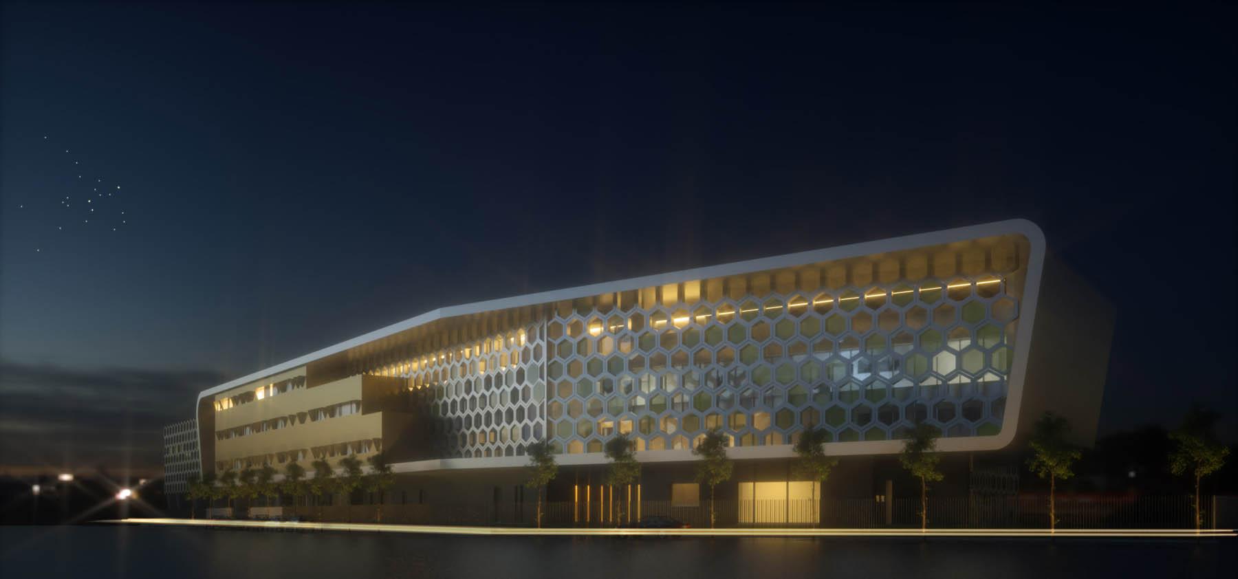 image de synthèse de concours architecte